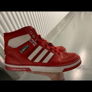 Red Hightop Adidas Mens 9.5 Sneakers